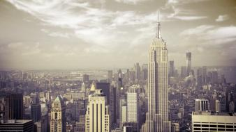 Empire state building manhattan new york city wallpaper
