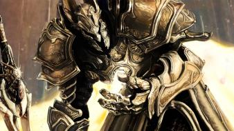 Fantasy art armor artwork diablo iii swords wallpaper