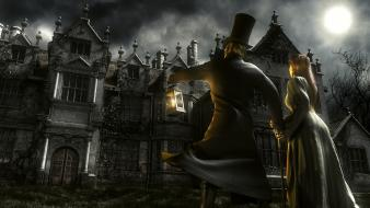 Fantasy art darkness king diamond mansion wallpaper