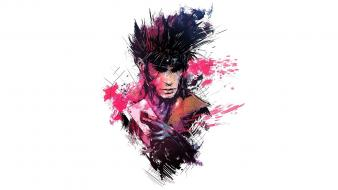 Gambit marvel comics x-men fan art white background wallpaper
