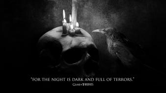 Game of thrones crows tv series candles Wallpaper
