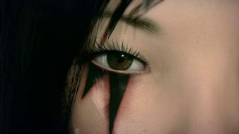 Games eyes faith mirrors edge eyelashes 2 wallpaper