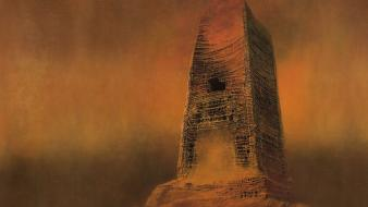 Gothic zdzislaw beksinski surreal art Wallpaper