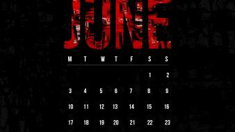 Grunge calendar june smashing magazine black background wallpaper
