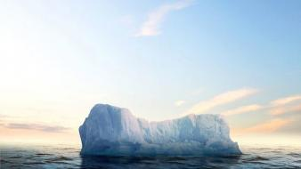 Ice icebergs sea split-view wallpaper