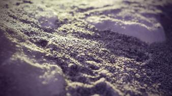 Ice landscapes winter sand purple macro dreamy beach wallpaper