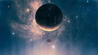 Joejesus josef barton futuristic outer space planets wallpaper