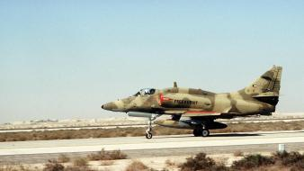 Kuwait airforce douglas a-4 jets fighter dive wallpaper