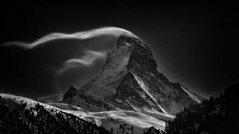 Landscapes professional switzerland monochrome matterhorn competition wallpaper