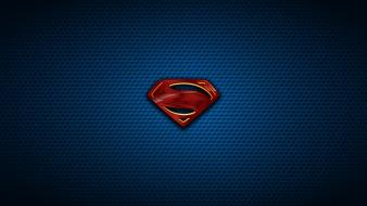 Logos blue background symbols man of steel Wallpaper