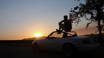 Miata mulholland drive hillside dr. mx-5 mx5 wallpaper