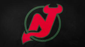 Minimalistic sports hockey nhl simple nj devils wallpaper