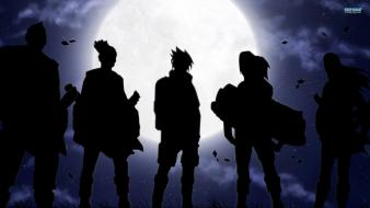 Moon naruto: shippuden otogakure uchiha sasuke leaves wallpaper
