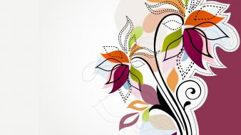 Multicolor vector floral graphics Wallpaper