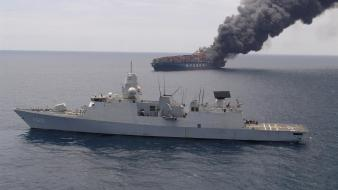 Nato vessel warships burning trail container marine wallpaper