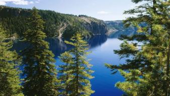 Nature trail oregon lakes national park crater lake Wallpaper