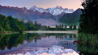 New zealand landscapes mountains nature wallpaper