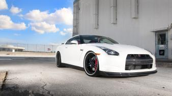 Nissan gtr cars white wallpaper