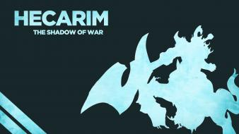 Of legends the shadow hecarim game characters wallpaper