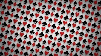 Patterns spade hearts diamonds white background club Wallpaper