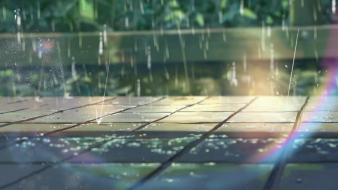 Rain makoto shinkai the garden of words wallpaper