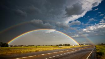 Rainbows roads wallpaper