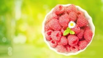 Raspberry fruit wallpaper