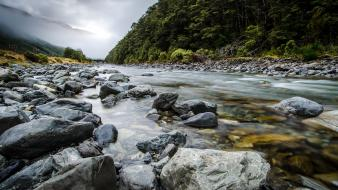 Rivers bealey river arthurs pass south island wallpaper
