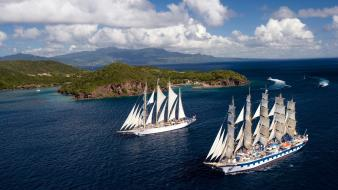 Sail ships boat wallpaper