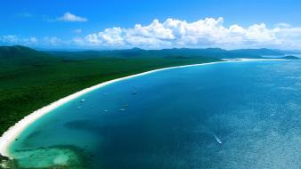 Sand white forests hills islands australia beach wallpaper