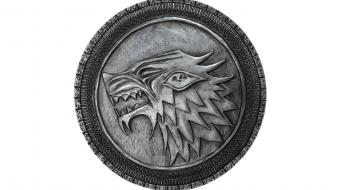 Shield game of thrones plaque house stark wallpaper