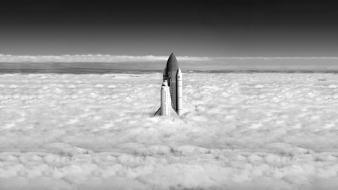 Space shuttle over earth Wallpaper