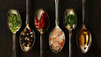 Spoons food art wallpaper