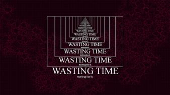 Time sentence dark sayings word citation wasting wallpaper