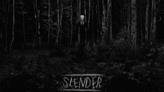 Trees wood forests scary slender man wallpaper