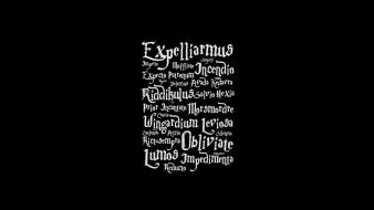Typography harry potter black background wallpaper