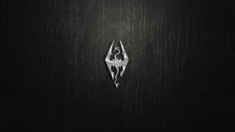 Video games logos the elder scrolls v: skyrim wallpaper