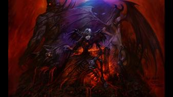 World of warcraft demons fantasy art warlock wallpaper