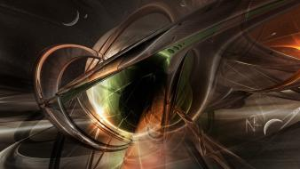 Abstract cgi 3d render nexus outerspace graphic wallpaper