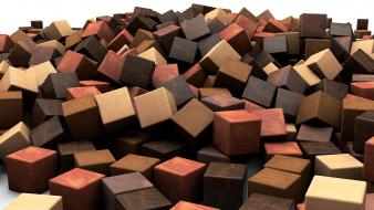 Abstract cubes digital art artwork 3d graphic wallpaper