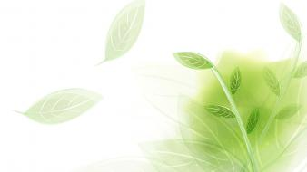 Abstract green leaves wallpaper