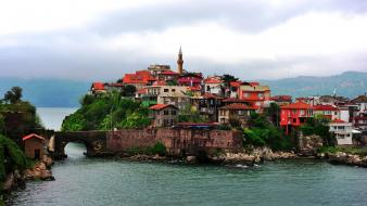 Amasra bartın turkey cities cityscapes wallpaper