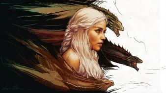 Artwork game of thrones daenerys targaryen wallpaper