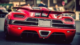 Back cars koenigsegg agera r red wallpaper