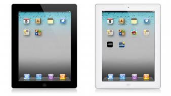 Black white apple inc. ipad 3d new Wallpaper