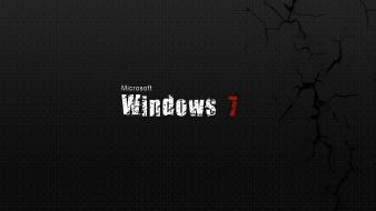 Black windows 7 background wallpaper