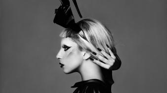 Celebrity lady gaga singers monochrome Wallpaper