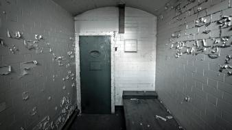 Cellar door prison wall wide-angle wallpaper