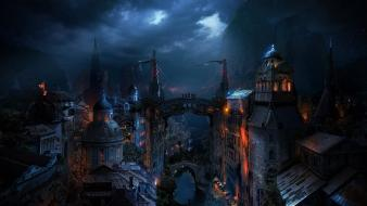 Cities fantasy art wallpaper
