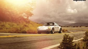 Clouds cars turn roads classic singer 911 Wallpaper